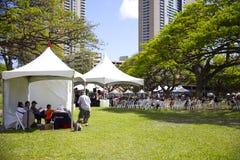Den Hawaii boken och musikfestivalen Royaltyfri Fotografi