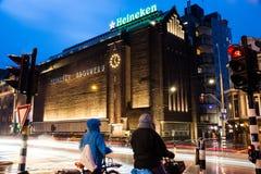 Den Heineken erfarenheten i Amsterdam, Nederländerna royaltyfria foton