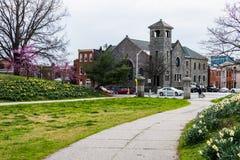 Den helgonelizabeth katolska kyrkan från patterson parkerar i baltimore royaltyfri fotografi
