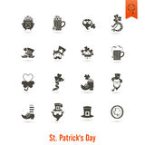 Den helgonPatricks dagen isolerade symbolsuppsättningen Arkivfoton