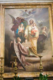 Den heliga familjen - målning på basilikan, Rome Royaltyfria Bilder