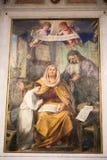 Den heliga familjen - målning på basilikan, Rome Royaltyfria Foton