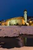 Den heliga familjkyrkan i Luhacovice brunnsortstad Arkivbilder