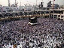 Den heliga Kaabaen, Makkah, Saudiarabien Arkivbilder