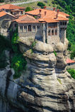 Den heliga kloster av Varlaam, Meteora, Grekland Royaltyfri Bild
