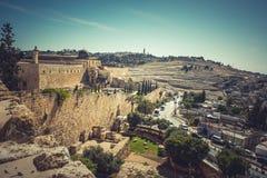 Den heliga staden av Jerusalem, Israel royaltyfri fotografi