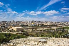Den heliga staden av tre religioner - Jerusalem Arkivbilder