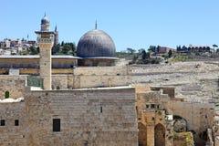 Den heliga staden Jerusalem royaltyfria foton