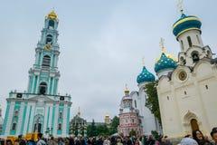 Den heliga Treenighet-Sten Sergius Lavra i Sergiyev Posad, Ryssland arkivfoton