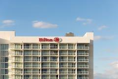 Den Hilton Bentley Miami /South stranden som lokaliserades på drev för 101 hav, sköt i Miami Beach FL, USA Arkivbilder