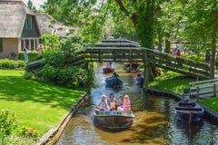 Den himla- Giethorrnen i Nederländerna Royaltyfria Bilder