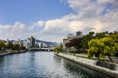 Den Hiroshima freden Memorial Park royaltyfri bild