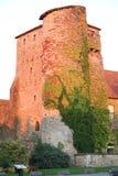 Den historiska Abbey Saint Laurent i Frankrike Arkivbilder