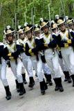 den historiska armén ståtar Arkivfoto