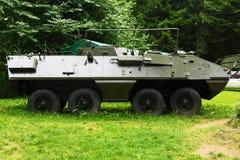Den historiska bäraren för OT-64 SKOT Wheeled Amphibious Armored Personnel Arkivfoto