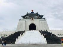 Den historiska byggnaden, medborgaren Chiang Kai-shek Memorial Hall är en berömd nationell monument, en gränsmärke och en turist- arkivfoto