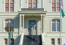 Den historiska Columbia County domstolsbyggnaden i Dayton, Washington Fotografering för Bildbyråer