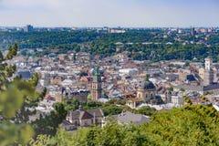 Den historiska delen av Lviv Arkivfoton
