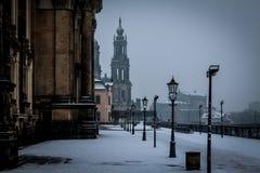 Den historiska Dresdenen i saxony royaltyfri fotografi