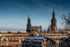Den historiska Dresdenen i saxony fotografering för bildbyråer