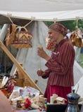 Den historiska festivalen i Moskva parkerar Kolomenskoe. Arkivbilder