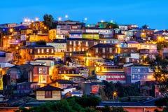 Den historiska fjärdedelen av Valparaiso i Chile royaltyfri foto