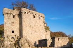 Den historiska gamla slotten Hohenbaden i Baden-Baden Arkivfoto