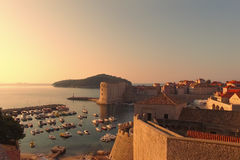 Den historiska gamla staden av Dubrovnik Royaltyfria Bilder