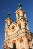 Den historiska kyrkan av gudomlig försyn i Bielsko-BiaÅ 'a från det 18th århundradet arkivbild