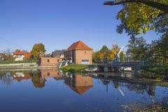 Den historiska lilla hydrokraftverket Royaltyfri Bild