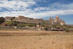 Den historiska maltesiska staden av Mdina Royaltyfri Bild