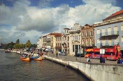 Den historiska mitten av Aveiro, Portugal Royaltyfri Fotografi