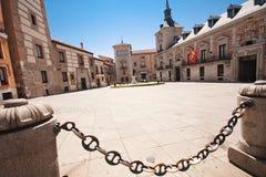 Den historiska mitten av Madrid Royaltyfria Bilder