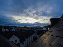 Den historiska mitten av Nuremberg germany Treesfält och snow Royaltyfri Foto