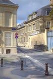 Den historiska mitten av staden av Reims Arkivfoton