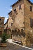 Den historiska mitten av Volterra (Tuscany, Italien) Arkivbilder