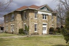 Den historiska Montgomery County, Arkansas domstolsbyggnad Arkivbild