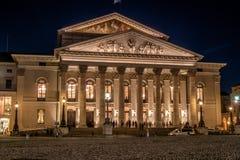 Den historiska nationella teatern i Munich, Tyskland Royaltyfria Bilder