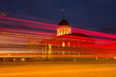 Den historiska platsen för gammalt statligt Kapitoliumtillstånd, i Springfield, Illinois Fotografering för Bildbyråer
