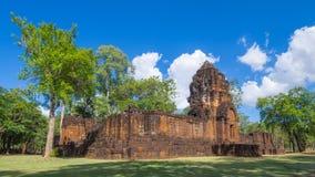 Den historiska Prasat Mueang allsången parkerar arkivbild