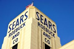 Den historiska Sears Roebuck byggnaden i Hackensack, NJ Fotografering för Bildbyråer