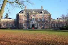 Den historiska slotten Zeist i landskapet Utrecht, Nederländerna Arkivbilder