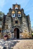 Den historiska spanska beskickningen Espada, Texas Arkivfoto