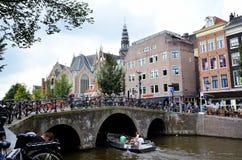 Den historiska staden av Amsterdam Royaltyfri Bild
