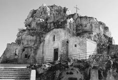 Den historiska staden av Matera arkivfoton
