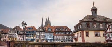 den historiska staden gelnhausen Tyskland Arkivfoton