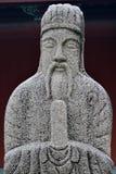 Den historiska statyn av kommenderar i forntida Kina Arkivfoto