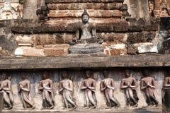 Den historiska Sukhothaien parkerar Arkivfoto