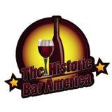 Den historiska vektorn för stångAmerika logo Arkivbild