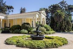 Den historiska vinodlinghusSantiago gör Chile Fotografering för Bildbyråer